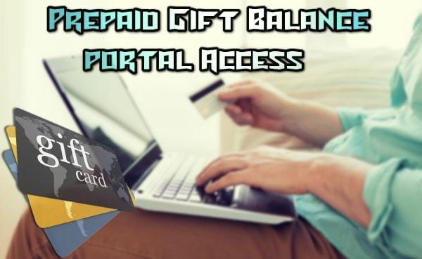 Prepaid Gift Balance Portal Login