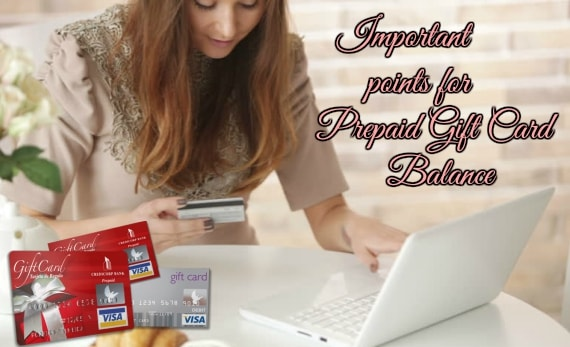 important points of Prepaid Gift Card Balance